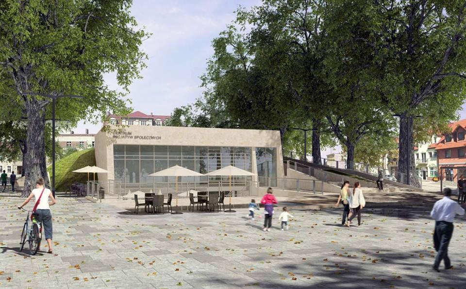 Trzcianka - koncepcja przebudowy placu Pocztowego
