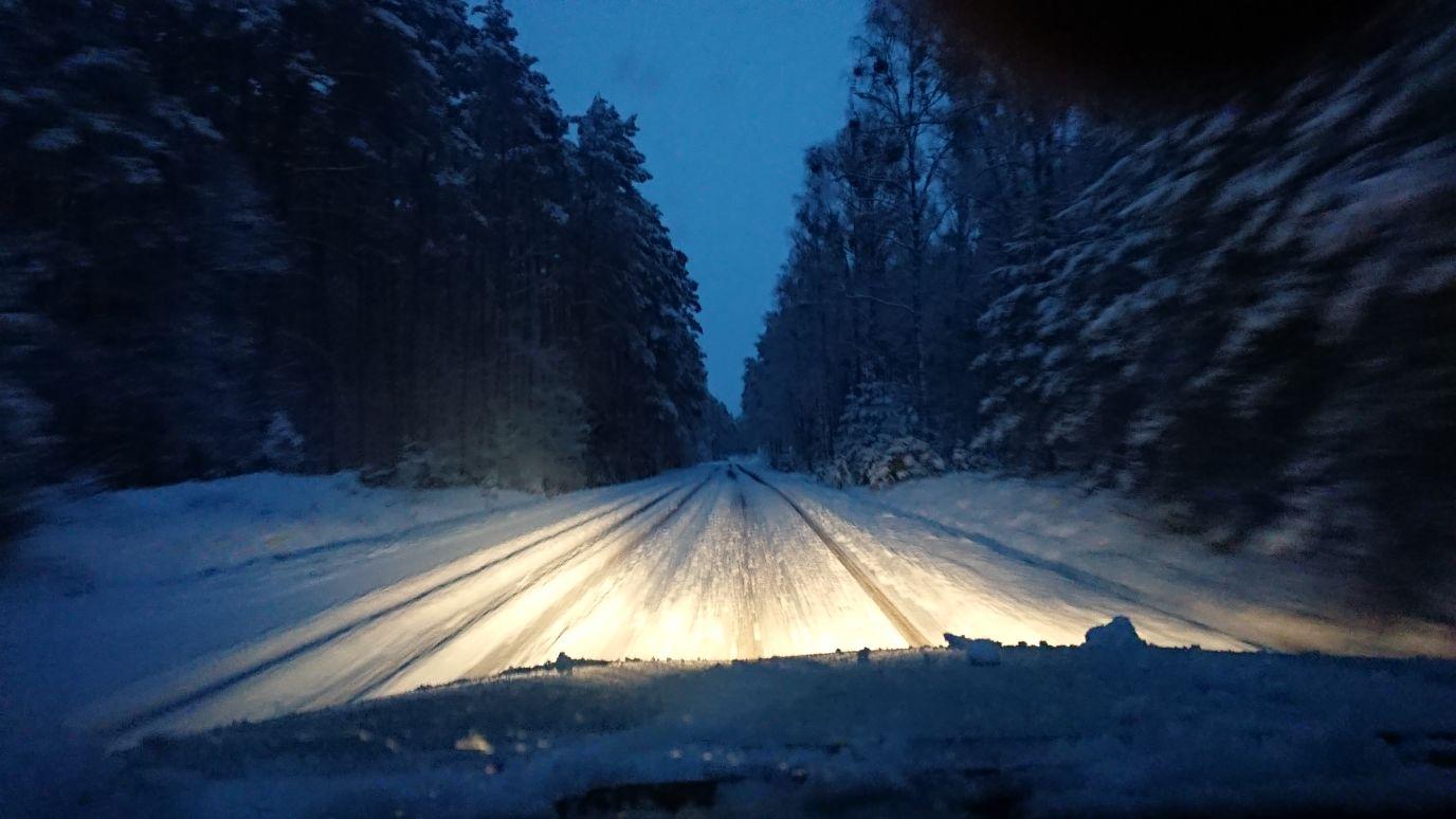 Zimowa droga do Trzcianki