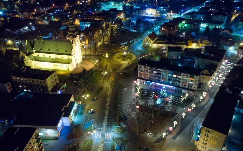 Świąteczna Trzcianka - zdjęcie z drona