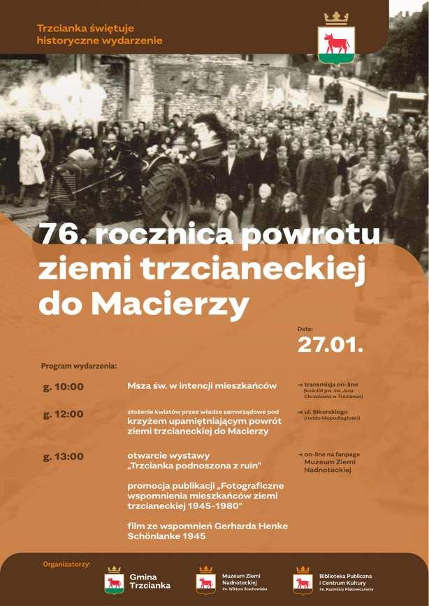 76 rocznica powrotu ziemi trzcianeckiej do Macierzy