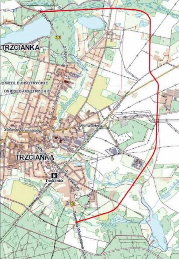 planowana obwodnica Trzcianki