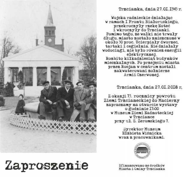 73. rocznica powrotu Ziemi Trzcianeckiej do Macierzy