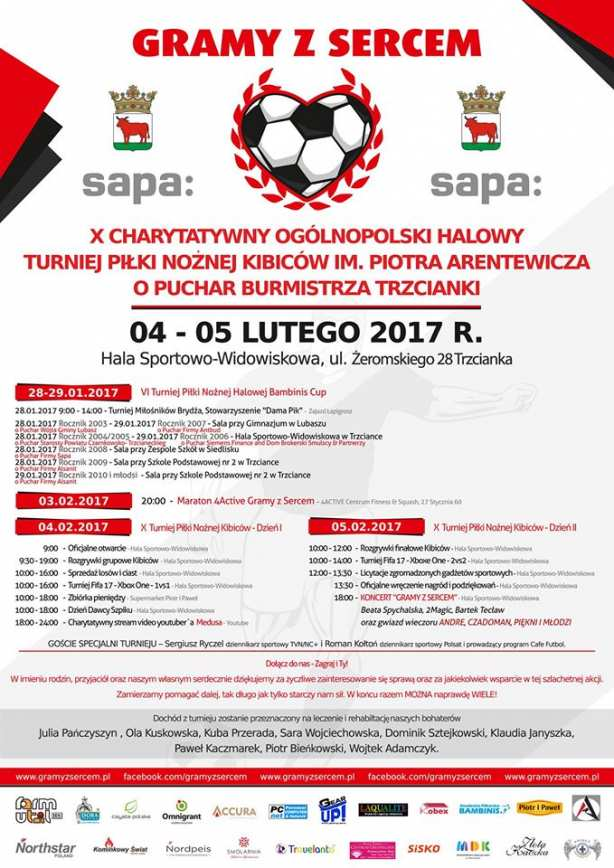 Gramy z Sercem 2017 Turniej halowej piłki nożnej